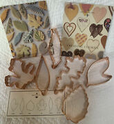 Martha By Mail Vintage Andldquocapital M Beeandrdquo Logo 6 Leaves Copper Cookie Cutters/box