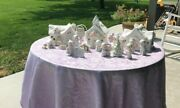 Lot Of 3 Precious Moments Sugartown Christmas Houses With Several Figurines