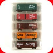 N Scale Gn Great Northern Circus 40 Box Car 5-pack Set Micro Trains 6th Nsc 1998