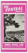 Pemex Travel Club Mexico Central Route Vintage Graphic Advertising Brochure