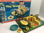 Vintage Fisher Price Little People Play Family Play Rooms 909 With Box