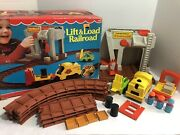 Vintage 943 Fisher Price Little People Lift And Load Railroad W/box Mint