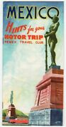 Pemex Oil Travel Club Vintage Mexico Motorists Graphic Advertising Travel Guide
