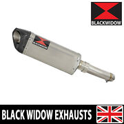 Katana 1000 Exhaust Silencer Kit 300mm Tri Oval Stainless + Carbon Tip Sc30t
