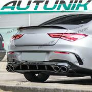 Cla45s Rear Diffuser Exhaust Tips For Benz Cla X118 C118 Amg Sport Line 2020+