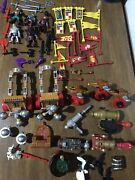 Fisher Price Imaginext Figures Castle Medieval Weapons Cannons Flags Knights Lot