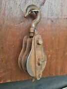 Vintage Industrial Pulley Old Factory Pulley Block Ideal For Lighting Etc