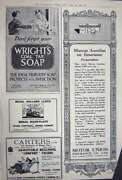 Old Vintage Print Advertisement 1922 Vichy Water Motor Cars Wright Soap 20th