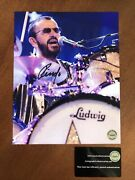 The Beatles Ringo Starr Hand Signed Autograph In Concert 8x10 Photo Coa