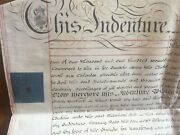 200 Year-old Indenture Deed On Vellum. Henry Portlock, Squire, Gloucester, Uk.