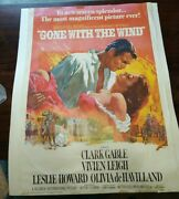 Vintage 1976 Reproduction Gone With The Wind 1939 Movie Poster 20 X 28