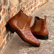 The Alligator Chelsea Boot Classic Model 4175 From Robert August W/ Free Shoe...
