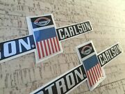 Glastron Carlson Set Of Two Sideand039 Decals + Small Decal Extra