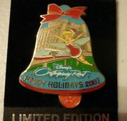 Disney New Pin Contemporary 2007 Happy Holiday Tinkerbell And Monorail Le 750
