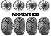 Kit 4 Maxxis Bighorn 2.0 29x9-14 On System 3 Sb-5 Beadlock Matte Gray White Can
