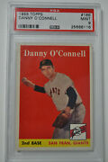 1958 Topps - Danny O'connell - 166 - Psa 9 - Mint