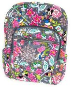 New Vera Bradley Iconic Disney Campus Backpack Laptop Mickey And Friends Nwt