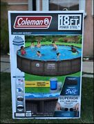 Coleman Power Steel Deluxe Above Ground Swimming Pool - 18ft X 48in