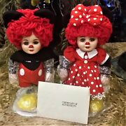 Disney Autographed 1998 Marie Osmond Mickey And Minnie Raggedy Ann And Andy Dolls