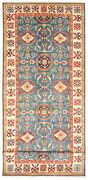 Vintage Geometric Hand-knotted Carpet 5and0394 X 15and0390 Traditional Wool Area Rug
