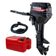 Hangkai 2stroke 12hp Outboard Motor Boat Engine Motor Water Cooling System 169cc