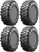 Four 4 Maxxis Carnivore Atv Tires Set 2 Front 28x10-14 And 2 Rear 28x10-14