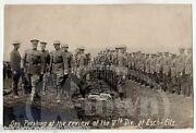 General Pershing Reviews 5th Division Antique Wwi Real Photo Postcard Rppc