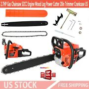 52cc 2.7hp Gas Chainsaw Engine Wood Log Power Cutter 20in Trimmer Crankcase Us
