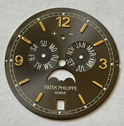 Patek Philippe Complications Annual Calendar Moon Phase Watch Gray Dial 5146j