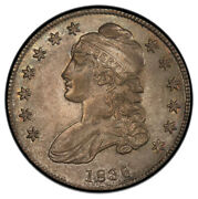 1836 50c Lettered Edge O-119 Capped Bust Half Dollar Pcgs Au58 Cac
