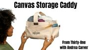 Thirty One Canvas Storage Caddy In Natural Nwt