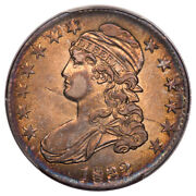 1832 50c Small Letters O-120b Capped Bust Half Dollar Pcgs Au58 Cac