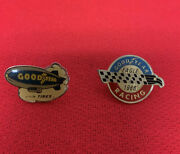 Vintage Goodyear Blimp 1 In Tires Lapel Pin And Eagle 1988 Racing Lapel Pin