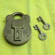 Jared Brass Lock With Advertising On Back