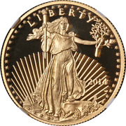 2014-w Gold American Eagle 25 Ngc Pf70 Ultra Cameo Brown Label - Stock