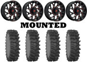Kit 4 System 3 Xm310r Tires 36x9-20 On Fuel Runner Red D779 Wheels 1kxp