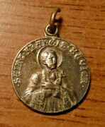 Vintage Silver Plated St Francis Xavier Catholic Medal