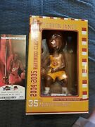 Lebron James Cleveland Cavaliers 35th Anniversary Bobblehead W/game Ticket