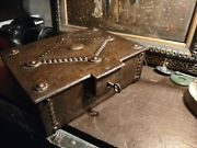 Antique Metal Humidor With The Skeleton Key Arts And Crafts