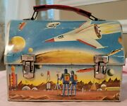 Thermos Vintage 1960 Outer Space Design Tin Lunch Box