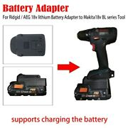 For Ridgid / Aeg 18v Lithium Battery Adapter To Bosch 18v Bat Tool With Charging