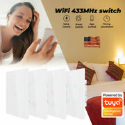 1/2/3/4gang Smart Wifi Wall Touch Light Switch Glass Panel Remote/voice Control
