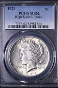 1921 Peace Silver Dollar Pcgs Ms62 Key Date Free Shipping Kbty