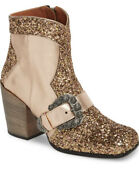 Coach Western Buckle Boots Glitter New 526 Hard To Find Sold Out Us 7/5 Eur 37