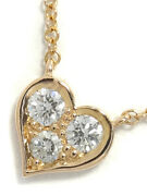 And Co. Sentimental Heart Pendant Necklace 18k Pink Gold Diamond Tf3666