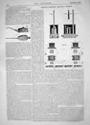 Antique Old Print 1862 William Preece Electric Railway Signals White Oil Cans