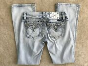 Miss Me Size 27 X 31 Signature Boot Je8549br Light Wash Jean Nwt