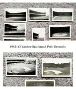 1942-43 Original Dated Type 1 Photos - Polo Grounds And Yankee Stadium W/details