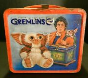 Vintage Gremlins Metal Lunch Box With Thermos 1984 Good -very Good Condition