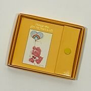 Vintage American Greetings Care Bears Friends Yellow Address Contact Book Nos